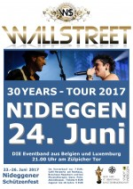 Wallstreet live 30 years 2017 tours